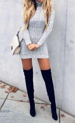Over The Knee Boots Black MY-SH0828