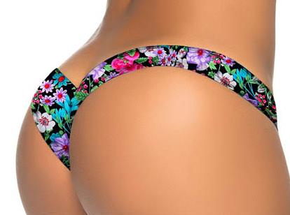 Bikini Bottom Colourful Floral 10-3447-MH-VRS