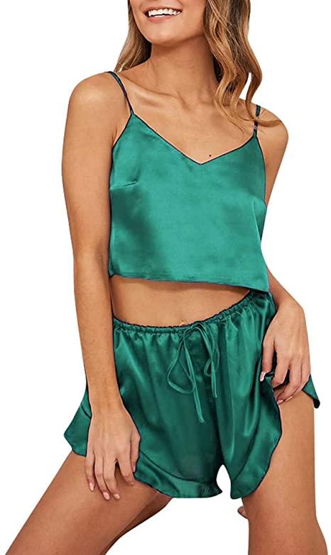 Satin Set Green YN2005117-103047-G