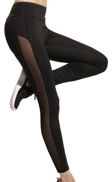 Sporty Black Leggings MY-26011