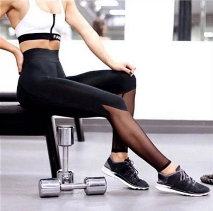 Sporty Black Leggings MY-27024
