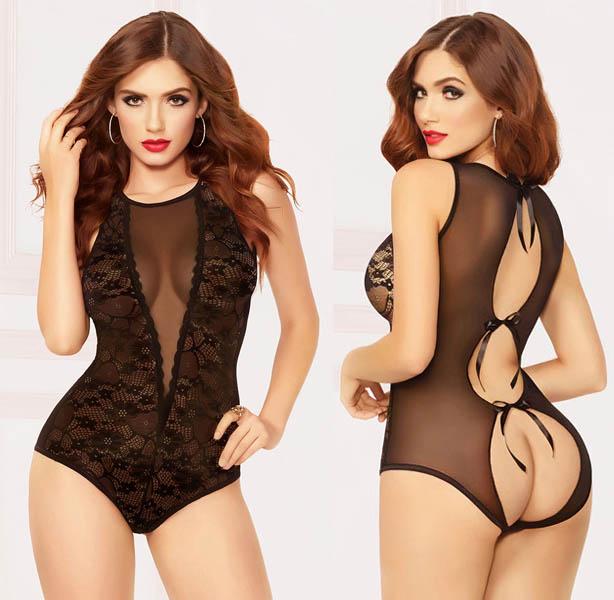 Sexy Lace Teddy Black 10 4243-Β