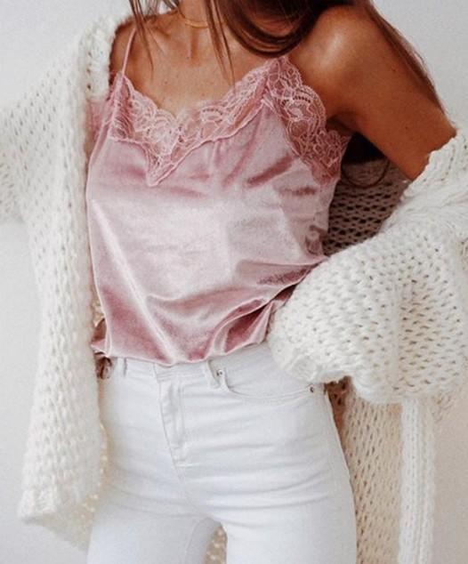 Velvet Top Pink MY YN812333-Pink