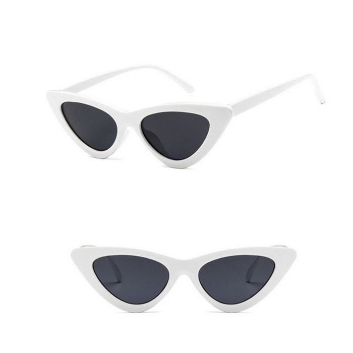 Cat Eye Sunglasses White 487-8213-WB