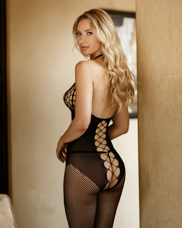Seductive Pothole Crotchless Bodystocking 20-96226