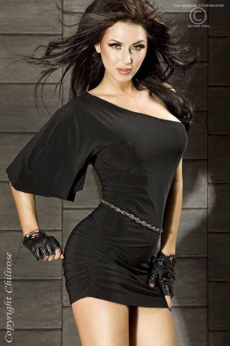 Chilirose Black Minidress