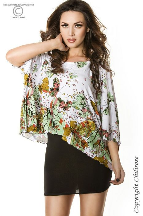 Chilirose Butterfly Top Green