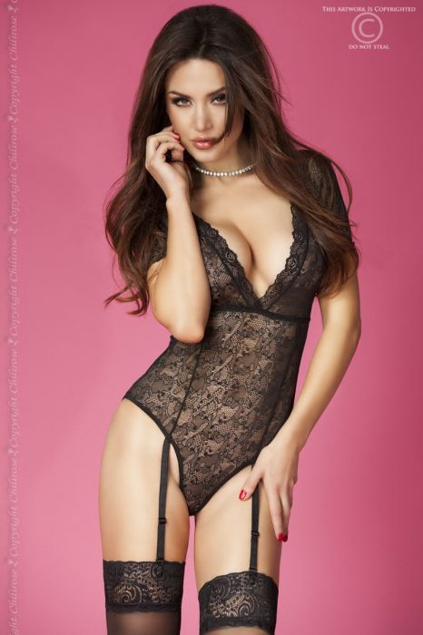 Chilirose Lace Body with Garter Belts CR 3673