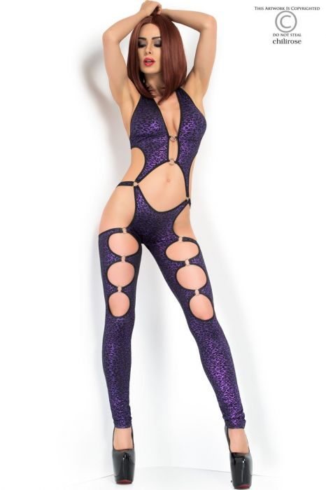 Chilirose Coverall with metal elements - Purple