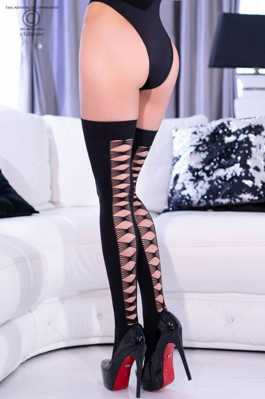 Chilirose Black Stockings