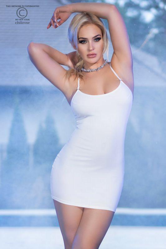 Chilirose White Mini Dress CR-4380