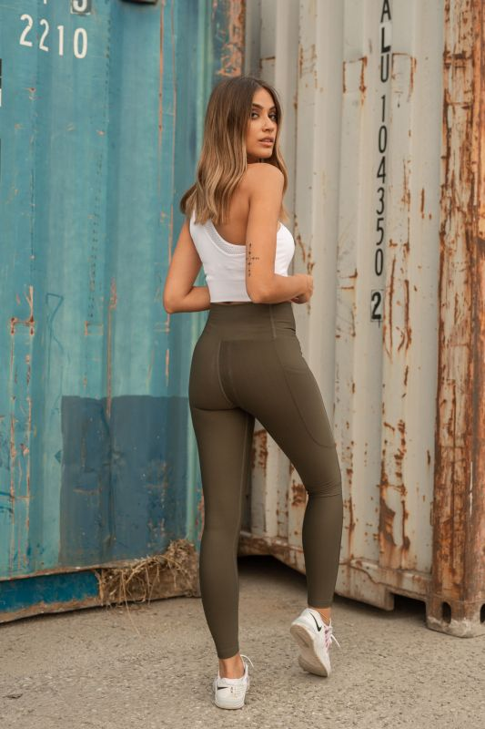 Green Body Shape Leggings