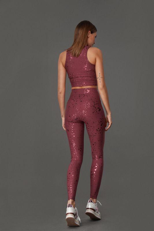 Red Shiny Leggings