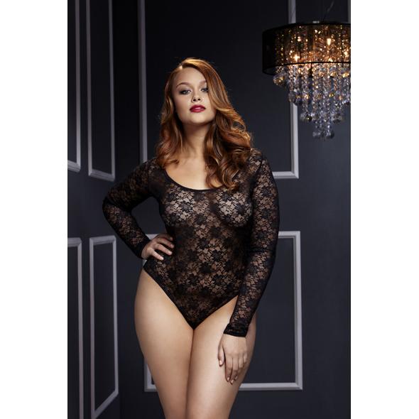 Baci - Black Lacy Bodysuit Back Cutout