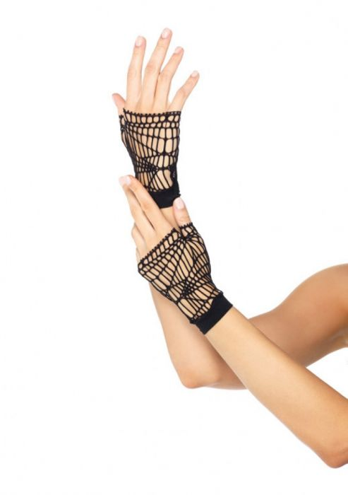 Leg Avenue Fingerless Gloves black