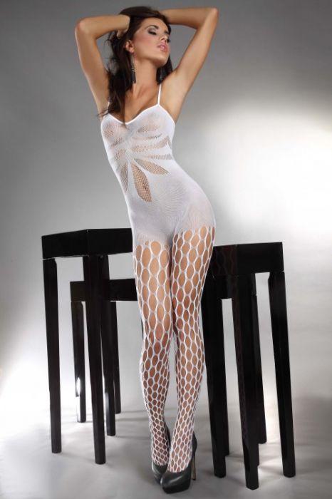 LivCo Corsetti Bodystocking Artemida Holes white