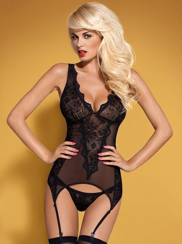 Obsessive Emperita corset & thong black