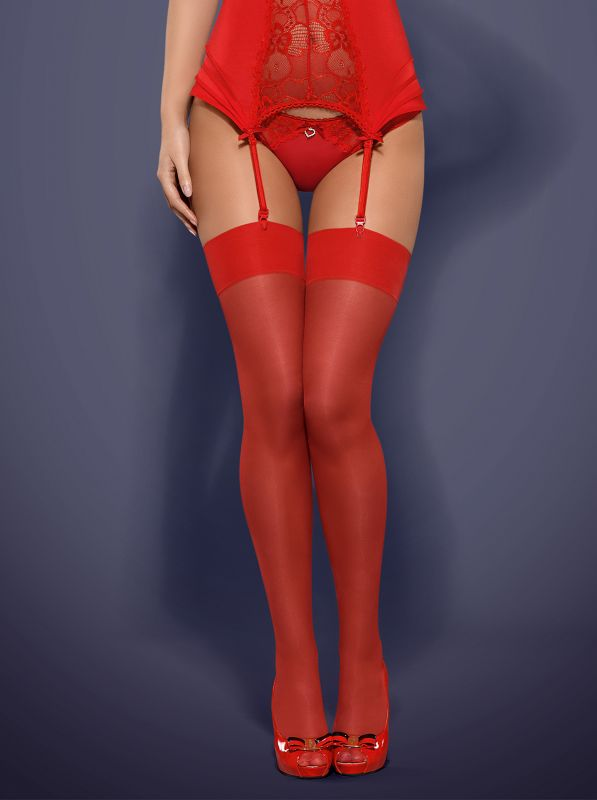 Obsessive S800 stockings red