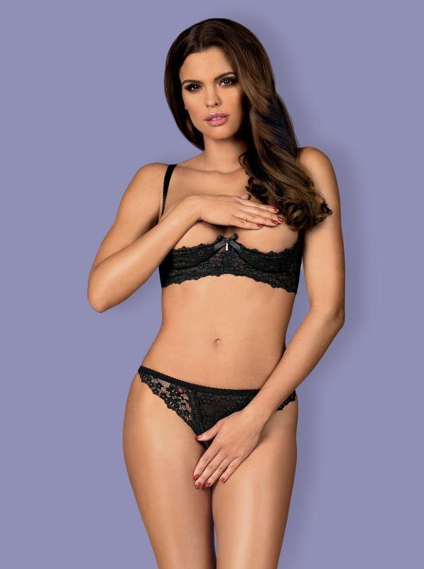 Obsessive Letica 2 pcs cupless set black