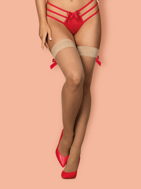 Obsessive S808 stockings Beige