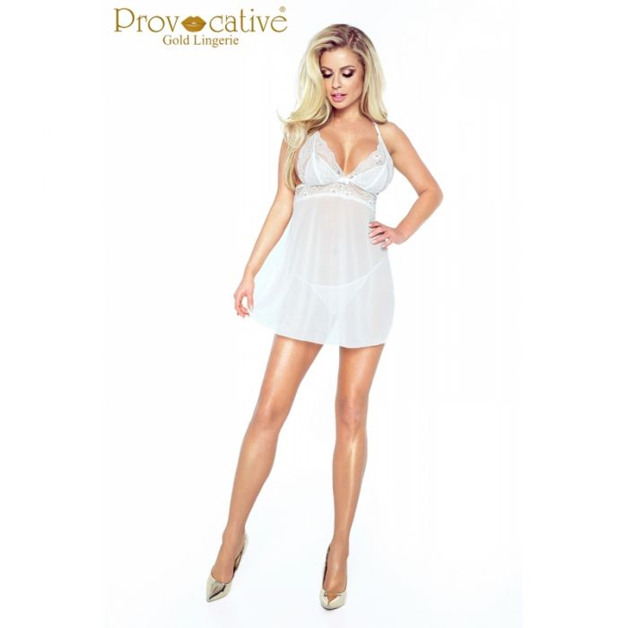 Provocative Candymoon Babydoll White PR 5002