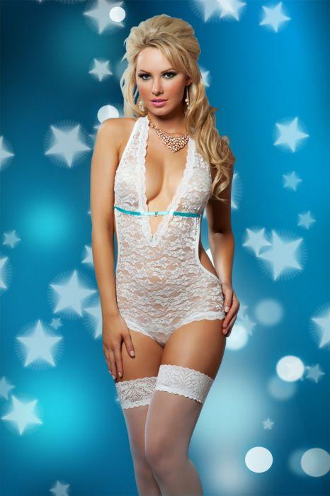 White Lace Teddy SC-4073