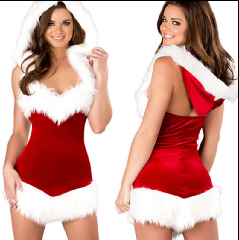 Sexy Christmas Velvet Babydoll MY XS99110