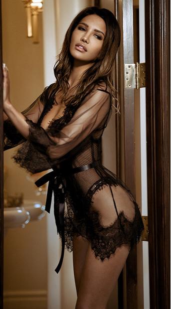 Sexy Lace Robe YN199129