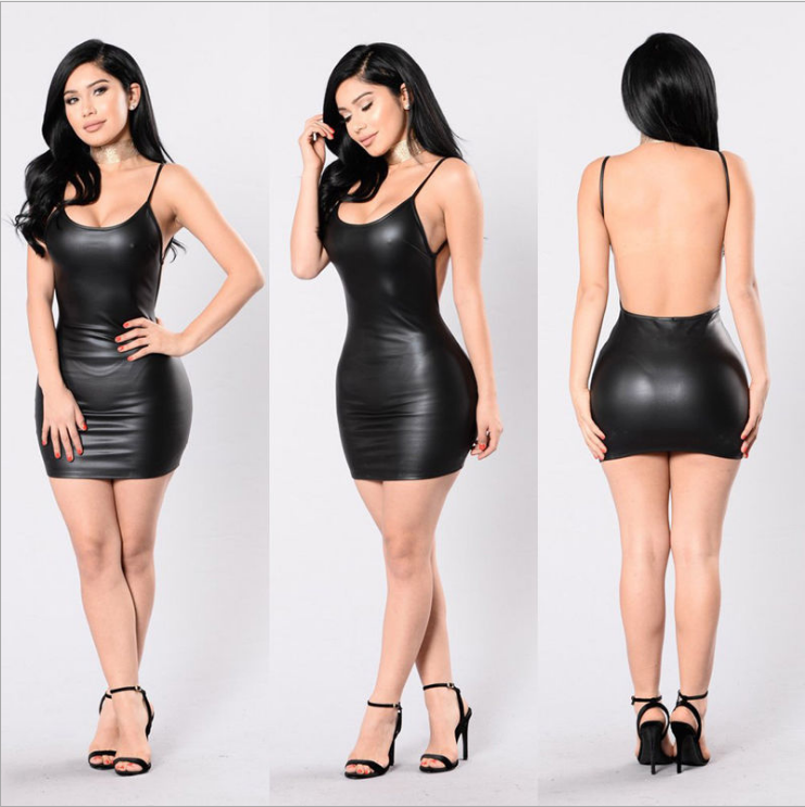 Mini Leather Dress MY YN91110