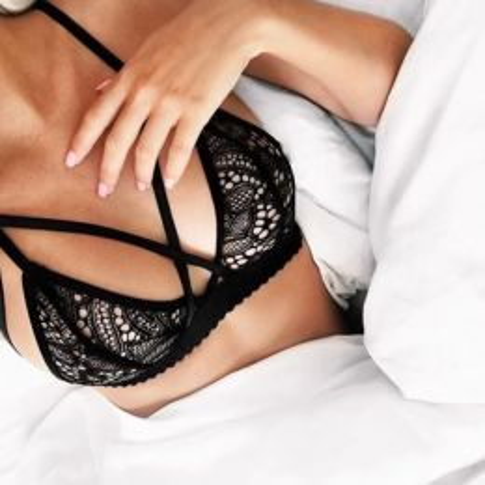 Lace Bralette Bra Black 486-0260-Black-MY