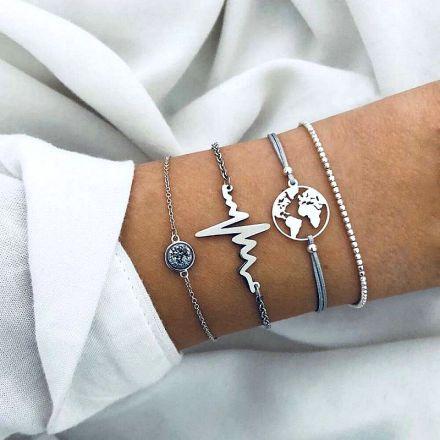 4 Bracelet Silver 402-0307-Silver