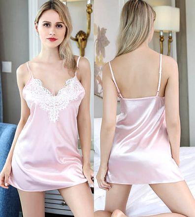 Satin Babydoll Pink 102010-P