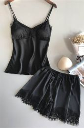 Satin Set Black 103011-B