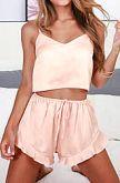 Satin Vest Set Pink 103047-P