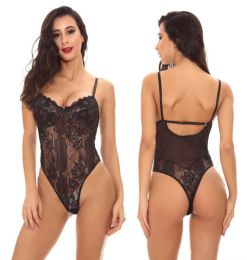 Sexy Lace Teddy Black 104010-B