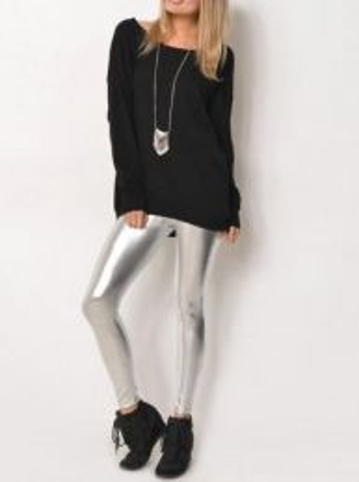Gloss Leggings Silver MY K107