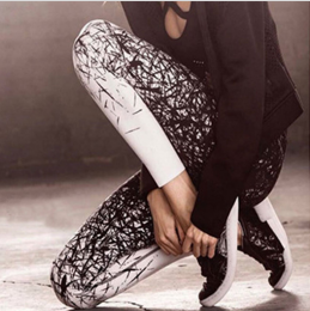 Sporty Black/White Leggings