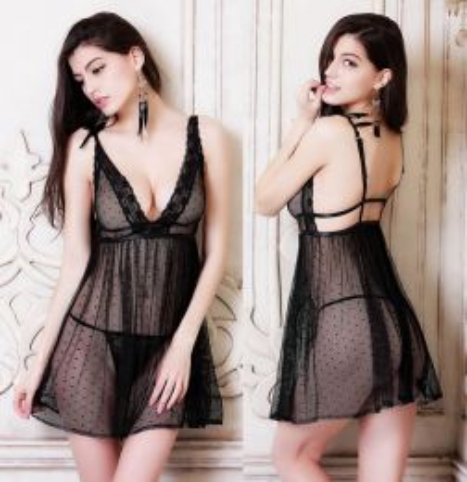Sexy Lace Babydoll Black 102297-Β