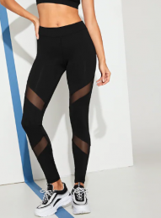 Sporty Black Leggings MY-26012