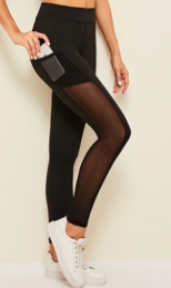 Sporty Black Leggings MY-26013