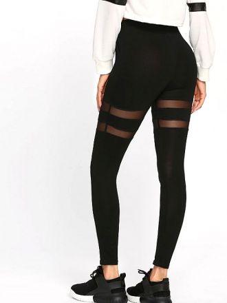 Sporty Black Leggings MY-26016