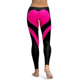 Heart Black/Pink Leggings MY 26076