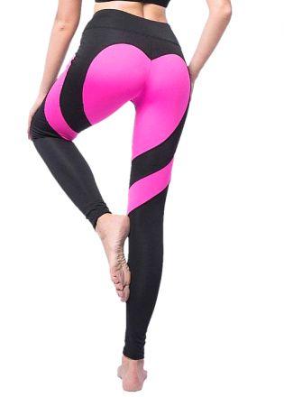 Heart Black/Pink Leggings MY 26076