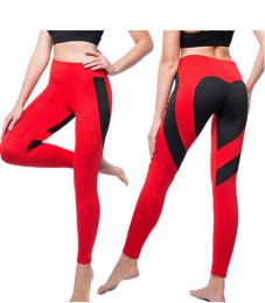 Heart Black/Red Leggings MY 26076