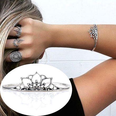 Boho Triangle Bracelet Silver 402-2667