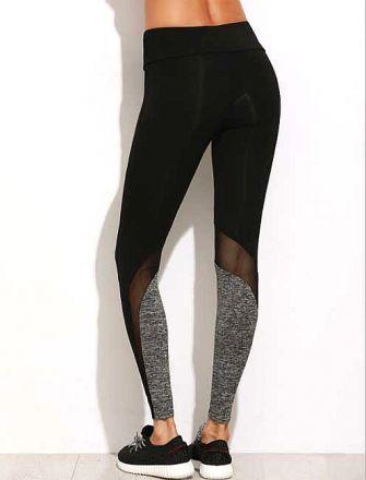 Sporty Black Leggings MY 27036
