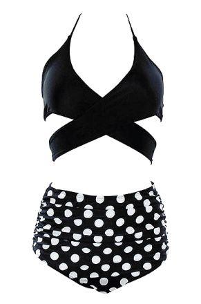 Retro Bikini Polka Dots 10 3505-BS