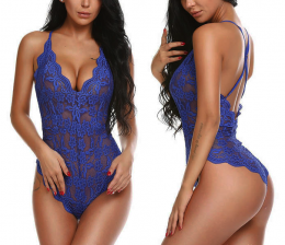 Sexy Lace Teddy Blue 10 4002-BE