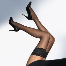 Sheer Lace Top Stockings Black  MY-STK3004-1264-Black