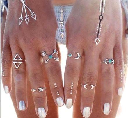 Silver 6pcs Ring 402-6176